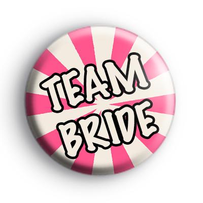 Pink and Cream Team Bride Wedding Badge