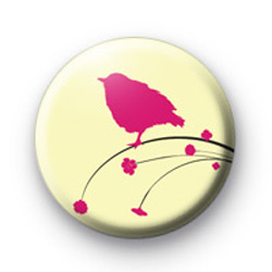 Cute Bird and Flowers Badges