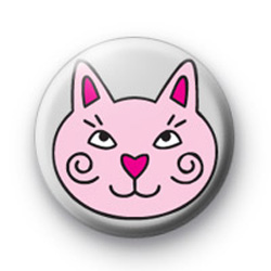 Pink Cat Badges