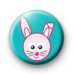 Cute Pink Easter Bunny Badges