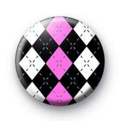 Diamond Pattern Pink badges