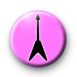 Pink Guitar Badges