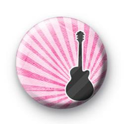 Punky pink guitar badge