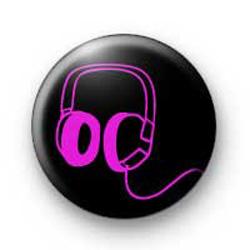 Pink Headphones badges