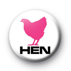 Pink Hen Badges