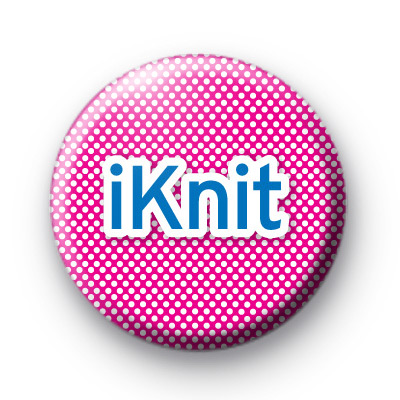 Pink iKnit Button Badges