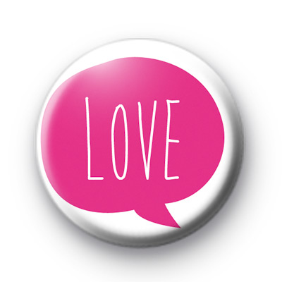 Pink Love Bubble Badge