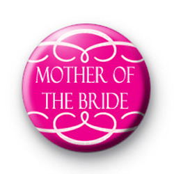 Pink Mother of the Bride Swirl Badge