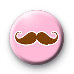 Cute fun moustache badge