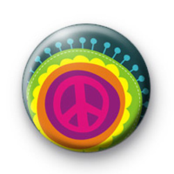 Pink Peace Sign badges