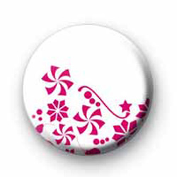 Pink Flowers Badges