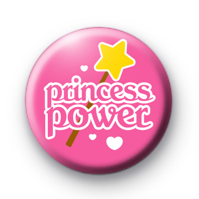 Pink Princess Power Button Badge