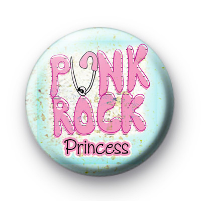 Pink Punk Rock Princess Button Badge