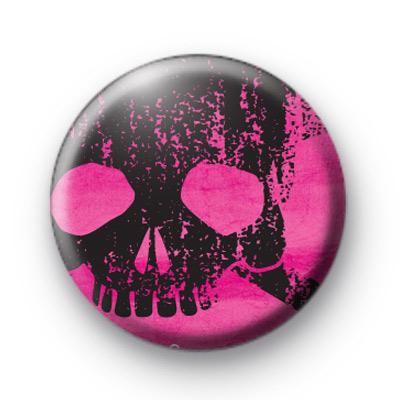Pink Punk Skull 1 Badge