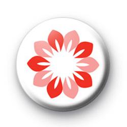 Pink Petal Flower Button Badges
