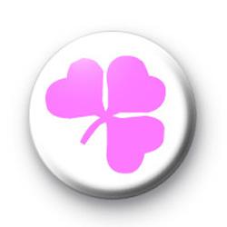 Pink Shamrock Badge badges