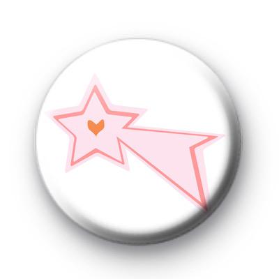 Pink Shooting Star Badge