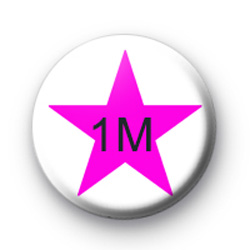 Pink Star 1M Custom badge
