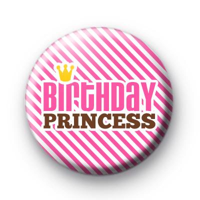 Candy Stripe Birthday Princess Badge