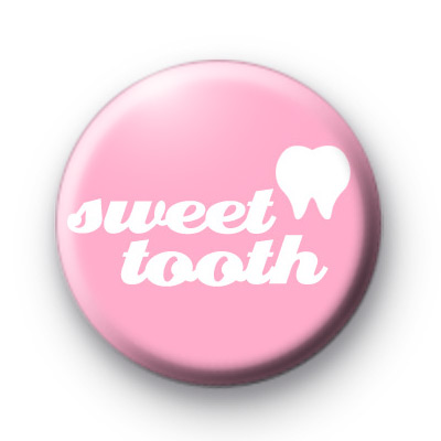 Pink Sweet Tooth Button Badges