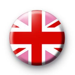 Pink Union Jack Button Badges
