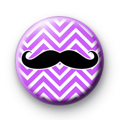 Purple Zig Zag Moustache Badges