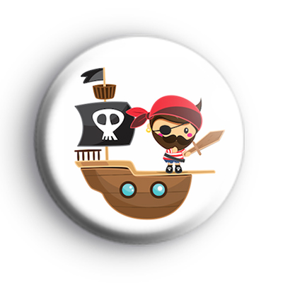 Pirate Captain Button Badge