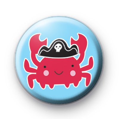 Pirate Crab Button Badge