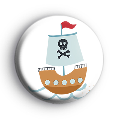 Ahoy Matey Priate Ship Badge