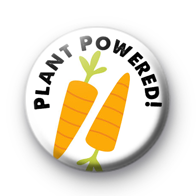 Plant Powered Carrot Button Badge