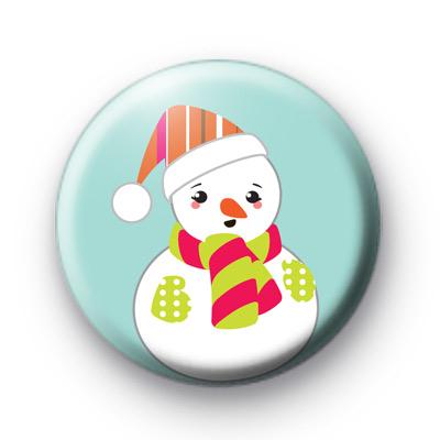 Plump Round Festive Snowman Badge