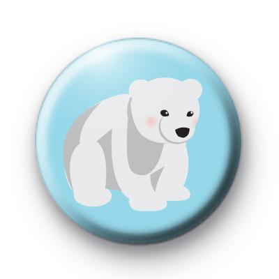 Polar Bear Button Badges