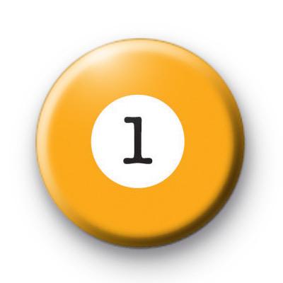 Billiard Ball Birthday Age Number 1 Badge
