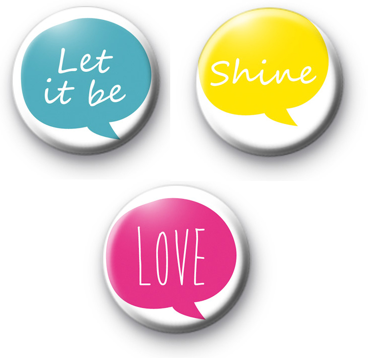 Set of 3 Bright Positive Badges