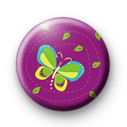 Purple butterfly badge
