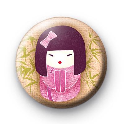 Pretty in Pink Geisha Girl Badge