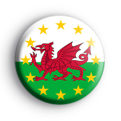 Pro EU Welsh Flag Badge
