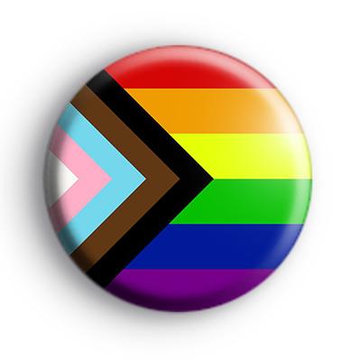 Progress Pride Flag Button Badge
