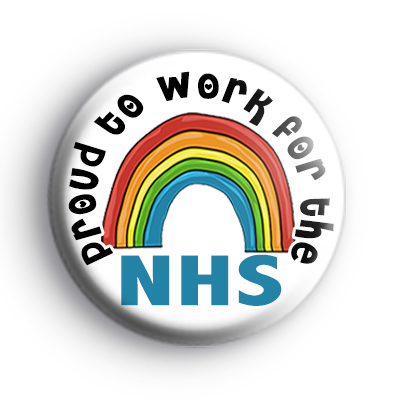Proud to work for the NHS Rainbow Badge