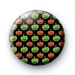 Orange & Green Pumpkin Pattern Badge