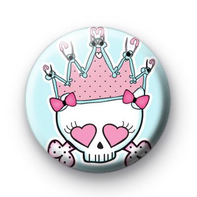 Punk Rock Crown Button Badges