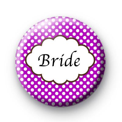 Purple Polka Dot Bride Badges