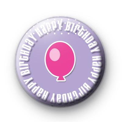 Purple Happy Birthday Badge