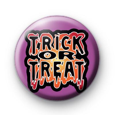 Purple Trick or Treat Halloween Badge