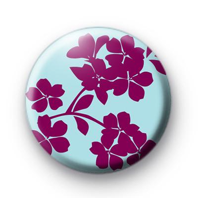 Purple & Blue Floral Badge
