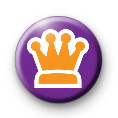 Purple and Gold Crown Badge