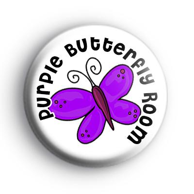 Purple Butterfly Room Badge