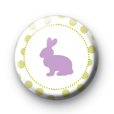 Purple Easter Bunny Pin Badges