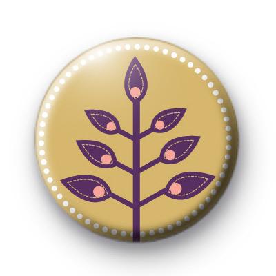 Purple Fern Button Badges