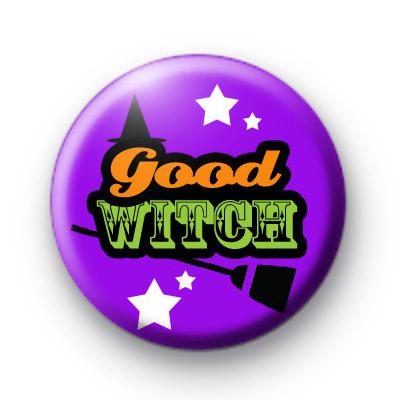 Purple Halloween Good Witch Badge